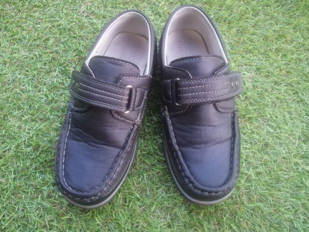 Buty wizytowe, mokasyny chłopięce r. 32