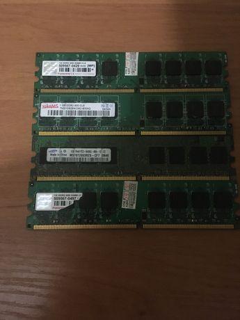 4 планки DDR 2 по 1 GB