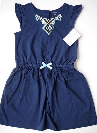 Wygodna sukienka z miękkiej bawełny firmy Carter's –122– Nowa (z metką