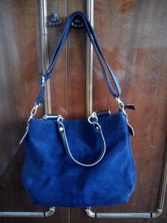 Синяя женская сумка большая