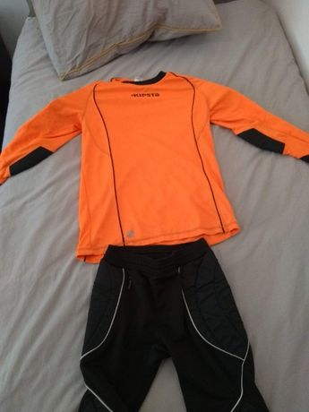 Conjunto uniforme guarda redes Kipsta - 14 anos
