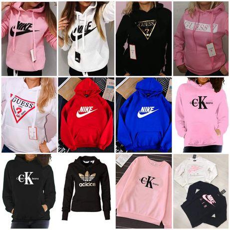 Bluzy damskie z logo Nike Guess Fila kolory S-Xl!!!