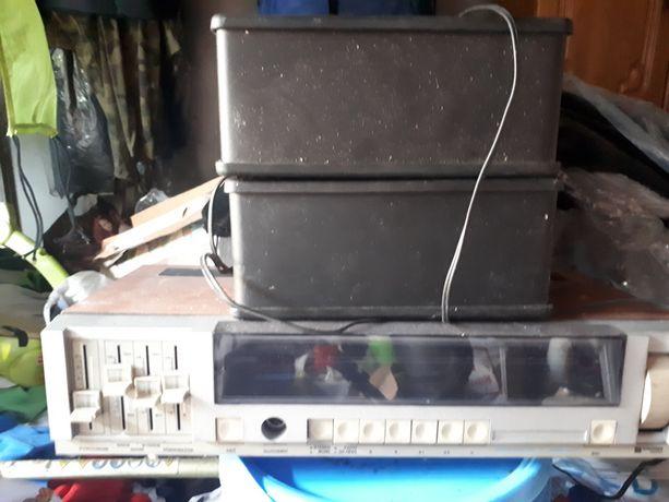 Unitra zestaw radio z kolumnami