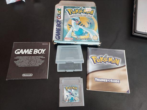 Pokemon silver game boy color oryginał komplet zamiana gameboy advance
