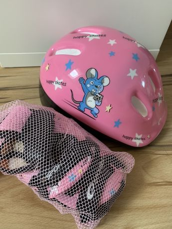 Zewstaw ochroniaczy i kask dla dziecka