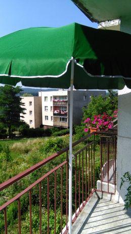 Parasol Ogrodowy -Nowy- materiałowy -zielony-średnica 240 cm -Okazja