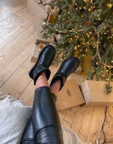 Ugg Australia mini Black Original / Угги Австралия кожаные черные