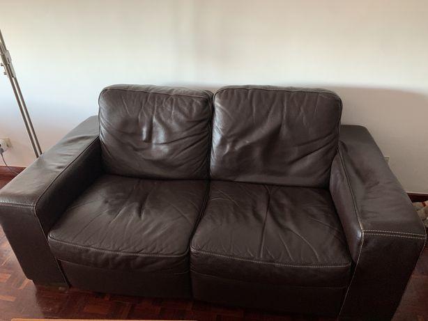sofá de pele Divani&Divani