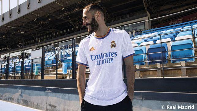 Camisolas Real Madrid. Todos os tamanhos disponíveis
