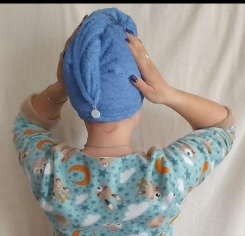 Полотенце для сушки волос. Чалма. С пуговицей.Для волос.Тюрбан.Подарок