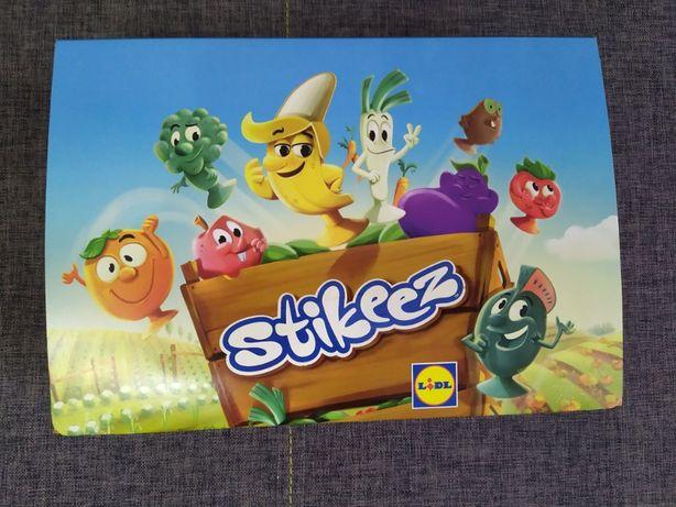 Stikeez Lidl - warzywa i owoce - gra planszowa