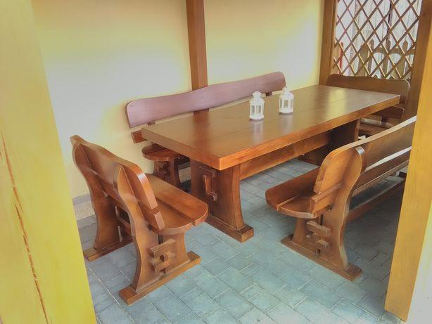 Komplet mebli ogrodowych , meble ogrodowe pod altanę stoły i ławki