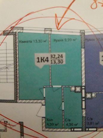 однокомнатная квартира в новострое жк синергия 3+ 6 дом 8 этаж Ирпень