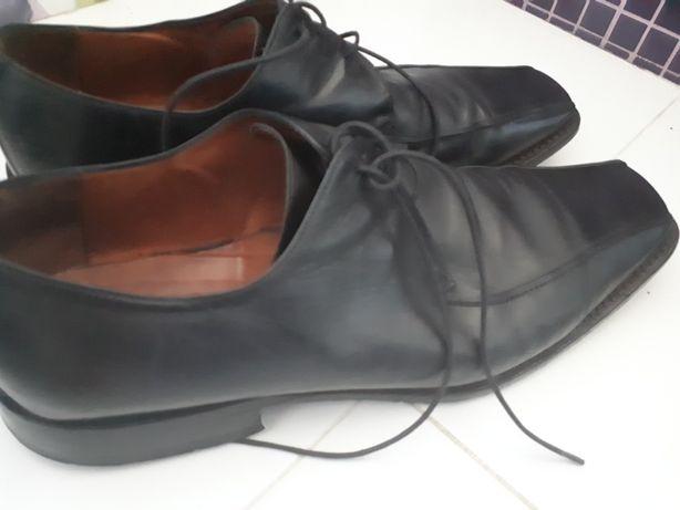 Męskie buty Gino Rossi rozm. 45 czarne półbuty