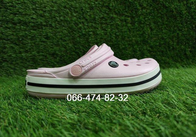 Crocs Crocband Кроксы крокбенд женские белые розовые пудровые оригинал