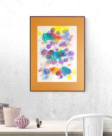 kolorowa dekorcaja na ścianę, abstrakcja do pokoju, grafika nowoczesna