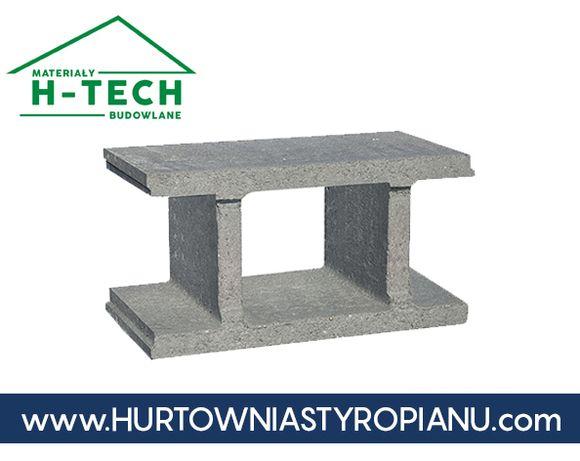 Pustak szalunkowy fundamentowy 49x25x25 bloczek betonowy