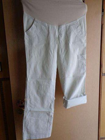 spodnie ciążowe Branco l beż bojówki podwijana nogawka