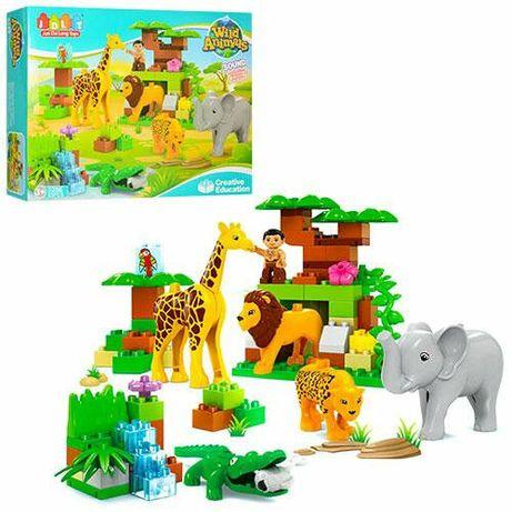 "Конструктор JDLT 5286 (аналог Lego Duplo) ""Зоопарк Wild Animals"" 83"