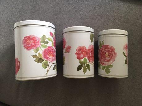 Conjuntos de 3 latas com flores Ikea