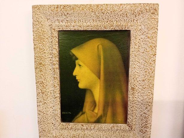 Quadro pintura a óleo Fabiola Jean Jacques Henner