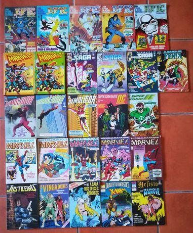 26 livros grossos Super-heróis Marvel e DC