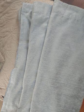 Zasłony 2 szt. grube, zaciemniajace, kolor bladoniebieski stan idealny