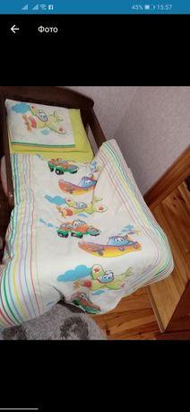 Постіль у ліжечко для хлопчика