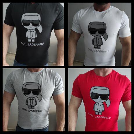 Koszulki Karl Lagerfeld Nowość Logowane M-XXL