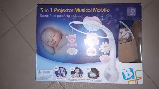 Projector muzyczna Karuzela 3w1