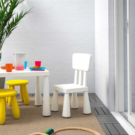 Комплект IKEA ОРИГІНАЛ стіл+стільчик+табурет ІКЕА МАММУТ новий!