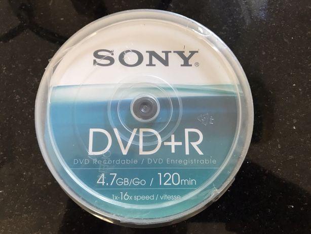 DVD+R Sony 16x speed 4.7 GB - 10 szt.