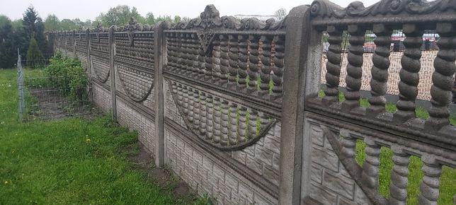 Płot betonowy uzywany