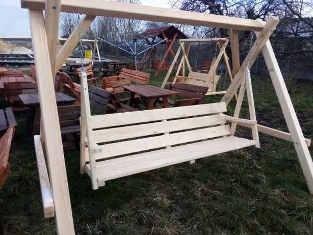 Huśtawka ogrodowa solidna ciężka duża, siedzisko 2m !!!