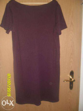 Sukienka bordowa z dzianiny XL, H&M