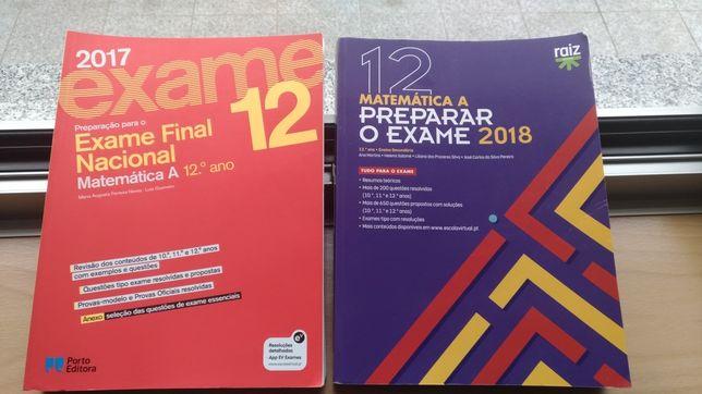 Livros de preparação exame Matemática A