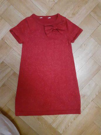 Нарядное красное платье на девочку 4-5 лет в отл.состоянии