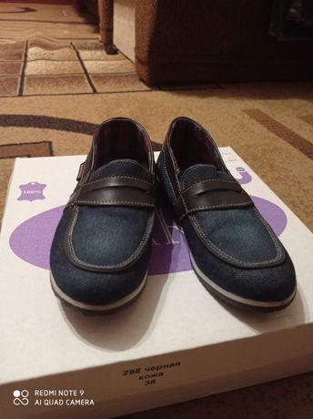 Джинсовые туфли на мальчика