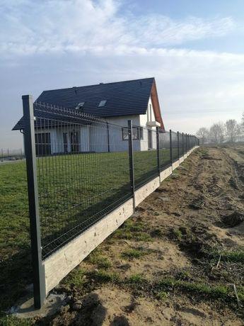 ogrodzenie ogrodzenia panelowe 150 cm podmurówka czarny antracyt zielo
