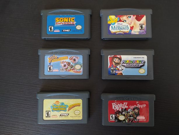 Jogos Gameboy Advance - Mario Party, Sonic, Bratz, Spongebob, etc
