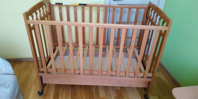 """Детская кроватка- люлька Рута ТМ """"Веселка"""". На колесиках"""