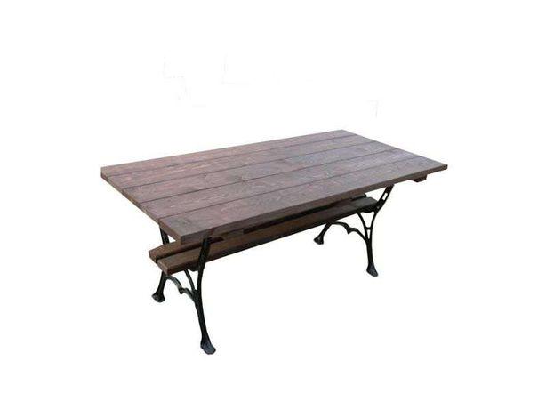 Stół ogrodowy parkowy żeliwny duży, meble ogrodowe, 75x175