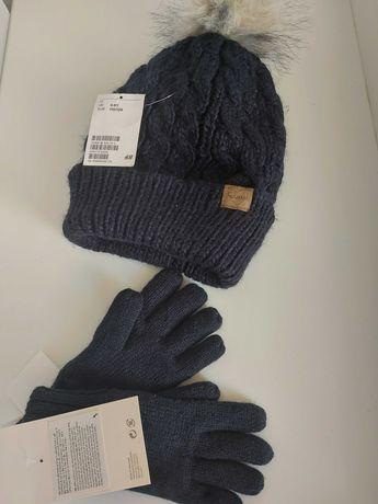 Шапочка для девочки H&M комплект шапка перчатки на девочку