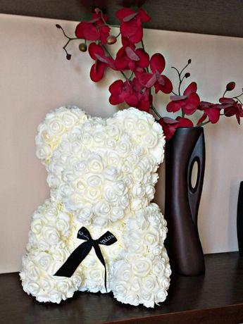 Rose Bear, miś wykonany recznie, idealny na prezent