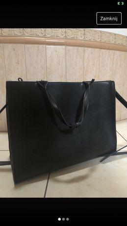 Torba kwadratowa czarna torebka