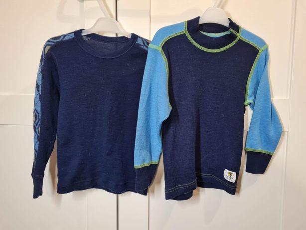 Dwie koszulki wełniane rozmiar 92 janus