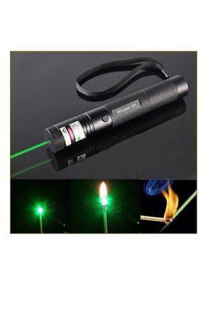 Зеленая лазерная указка Laser 303 + прибор зарядки АКБ + АКБ