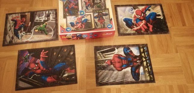 Puzzle Spider-Man, 4 obrazki, Elementy: 35, 48, 54, 70