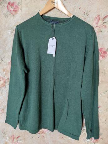 Новый свитер мужской, Springfield, Испания, 100% cotton, размер L