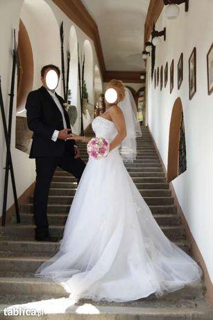 Przepiękna suknia ślubna SINCERITY 3743 stan idealny